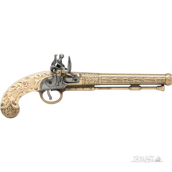 Replica Flintlock pistol, white grip
