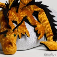 Shoulder dragon XXL, corn orange, spiky crest
