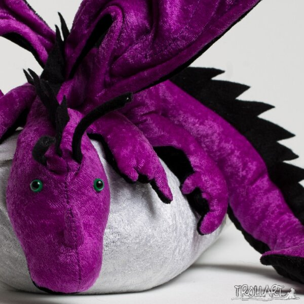 Shoulder dragon XXL, purple, spiky crest