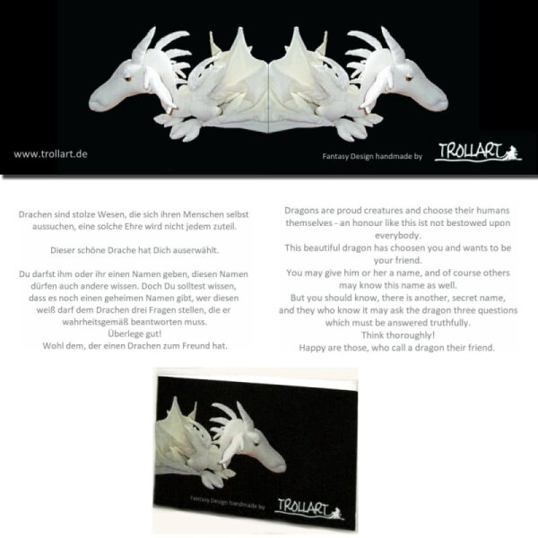Shoulder dragon XXL, zebra pattern, spiky crest