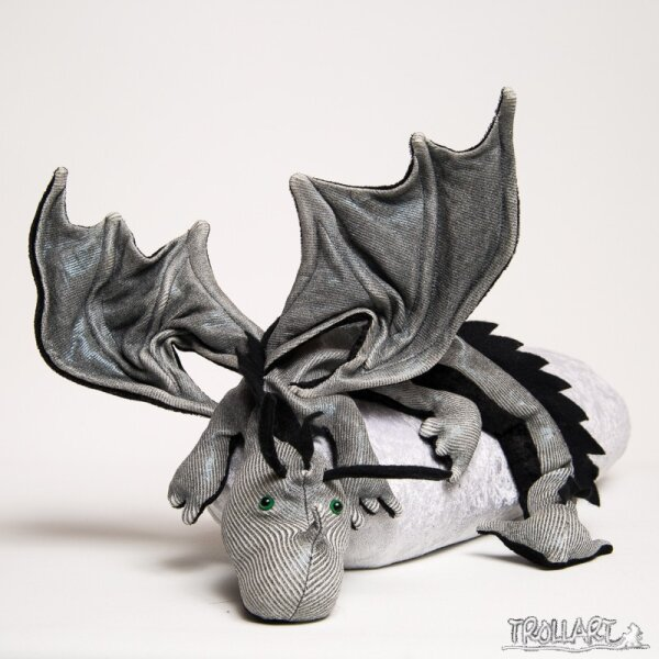 Shoulder dragon XXL, Special Ed., silvery shimmer, spiky crest
