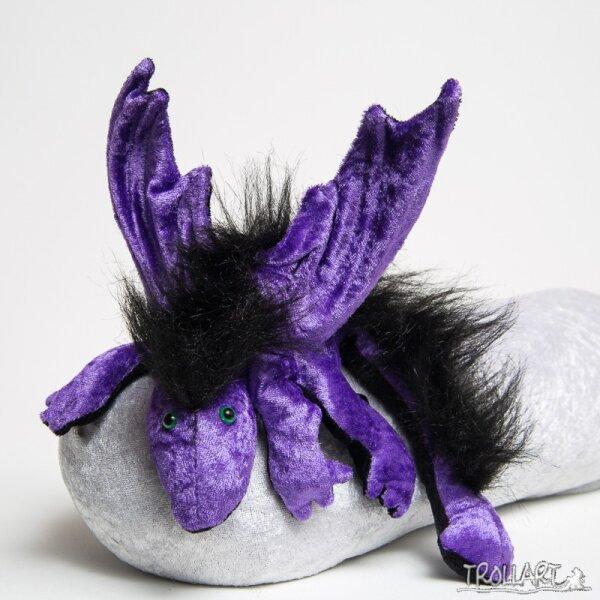Shoulder dragon L2, purple, plushy crest