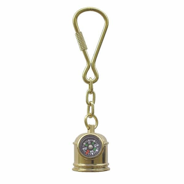 Key fob, life boat compass, brass