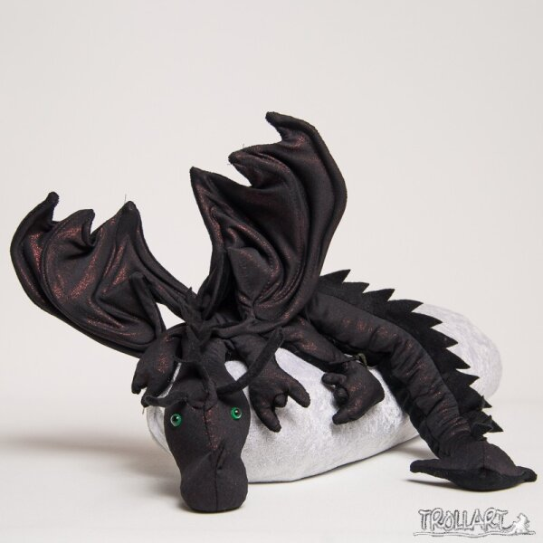 Shoulder dragon XXL, Special Ed., dark red black, spiky crest