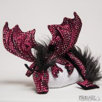 Shoulder dragon XXL, Special Ed., sequin bordeaux, plushy...