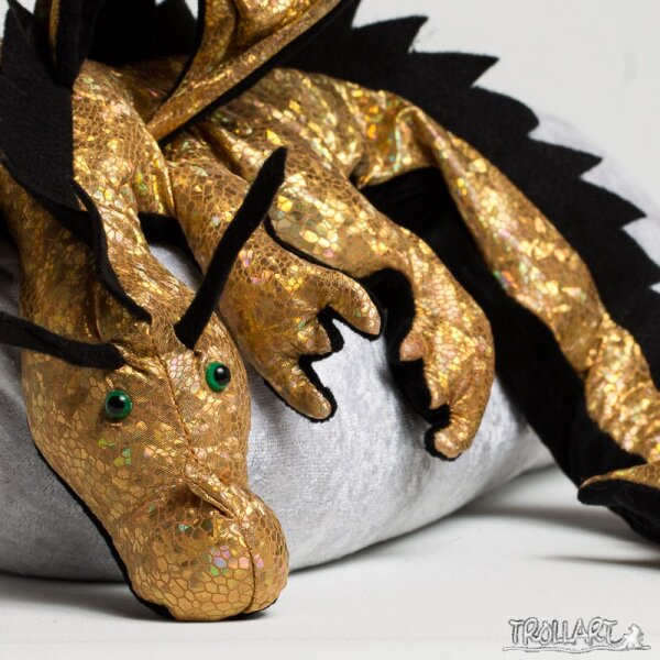 Shoulder dragon XXL, Spec. Edit. holo lizard gold, spiky crest