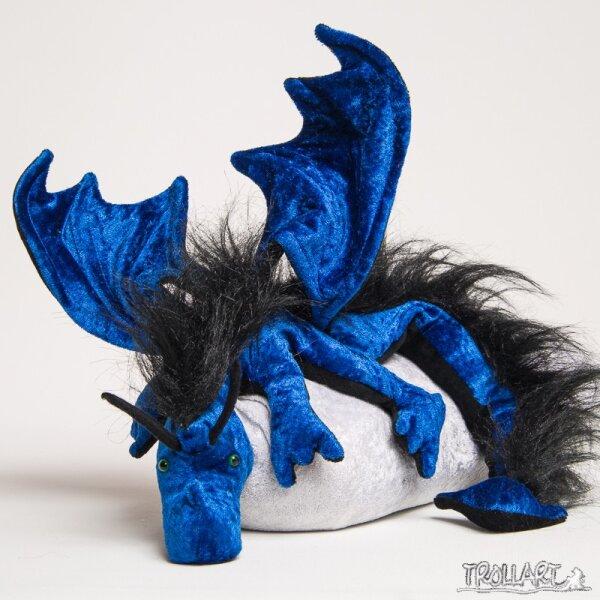 Shoulder dragon XXL, royal blue, plushy crest
