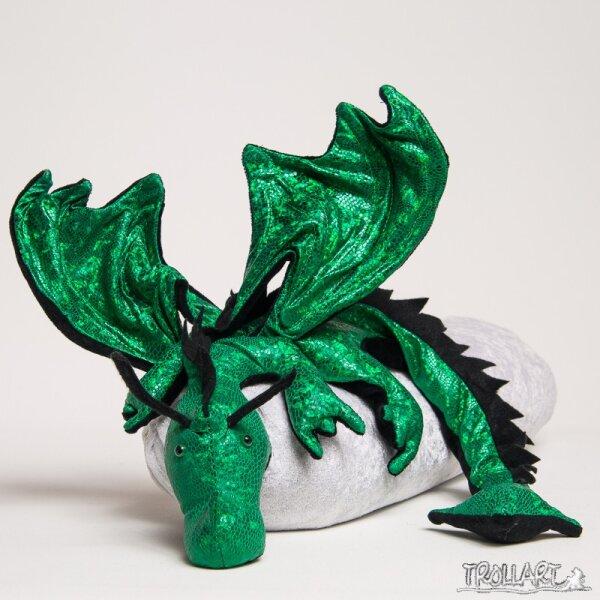 Schulterdrache XXL, Sp.-Ed., reptilholo grün, Zackenkamm