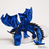 Shoulder dragon XXL, royal blue, spiky crest