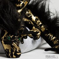 Shoulder dragon XXL, Special Ed., gold black, plushy crest