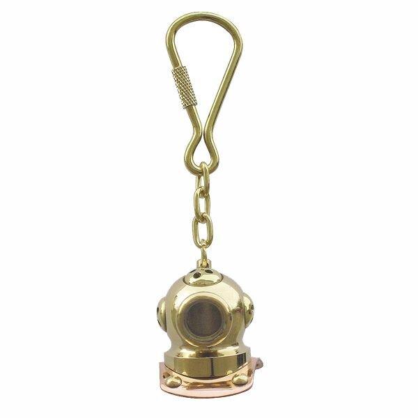 Schlüsselanhänger, Taucherhelm, Messing/Kupfer