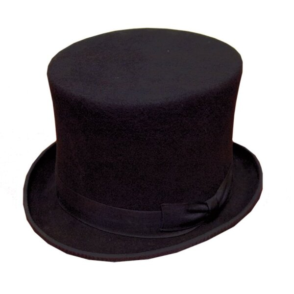 Zylinder, Top-Hat, Felt 100% Wool, silk lining, Height 16cm, Size 56