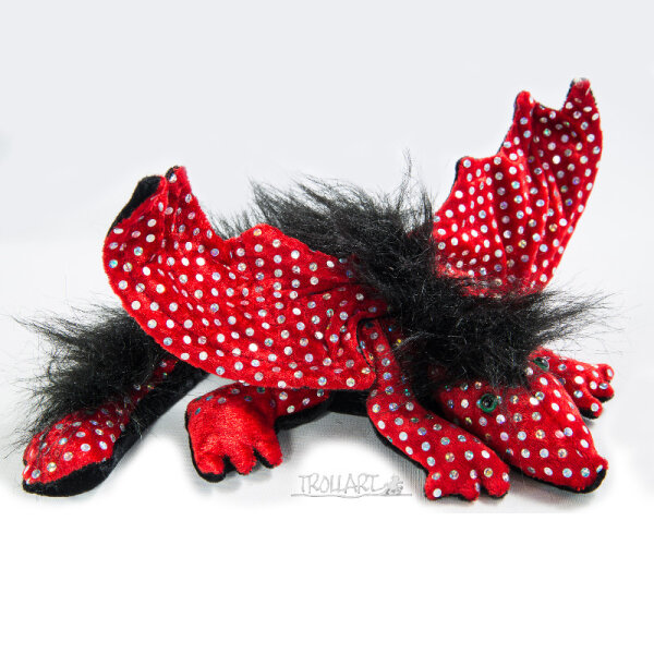 Shoulder Dragon L2, Paill. Red, plushy crest