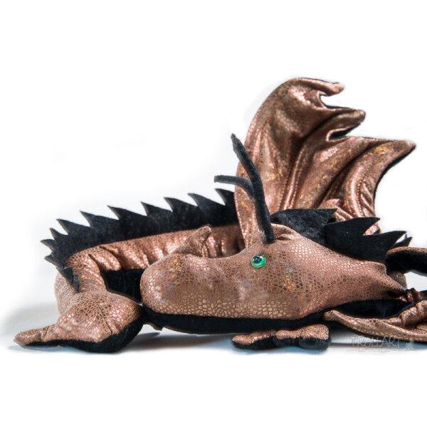 Shoulder dragon XXL, Special Ed., holo lizard bronze, spiky crest