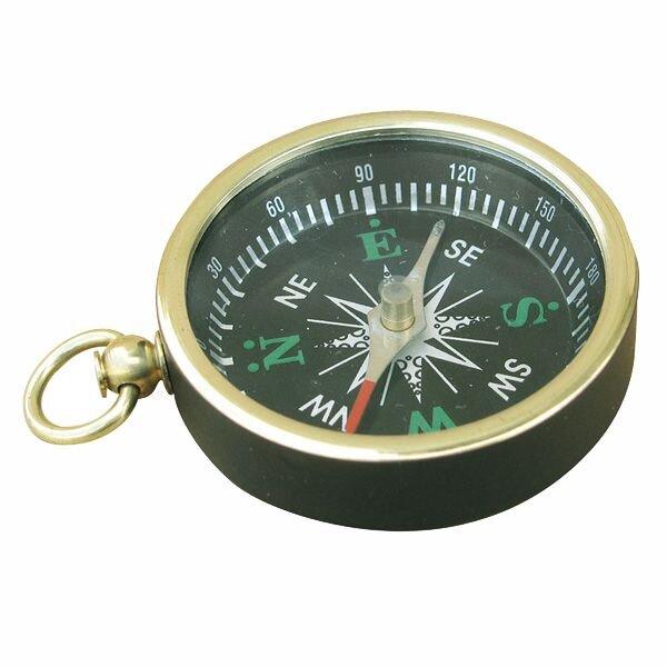 Kompass m. Ring, Messing schwarz lackiert, 4,5cm Durchmesser