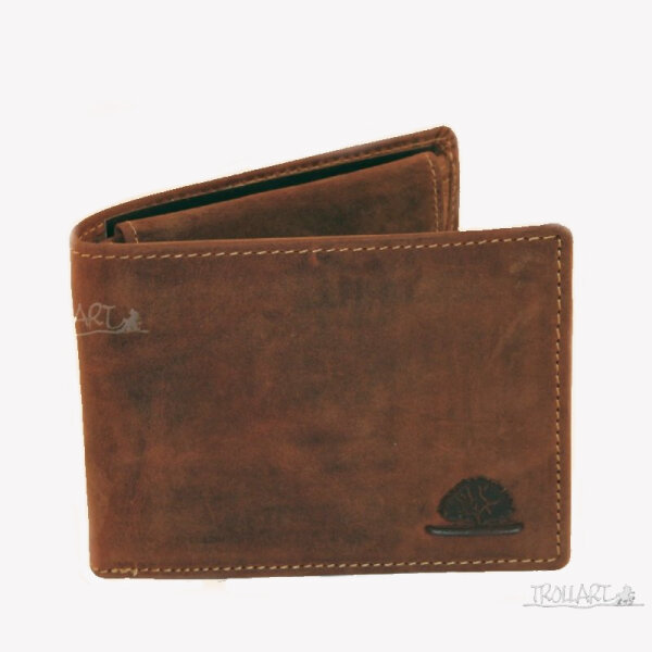 Two-piece bank note wallet, vintage style, leather, by Greenburry