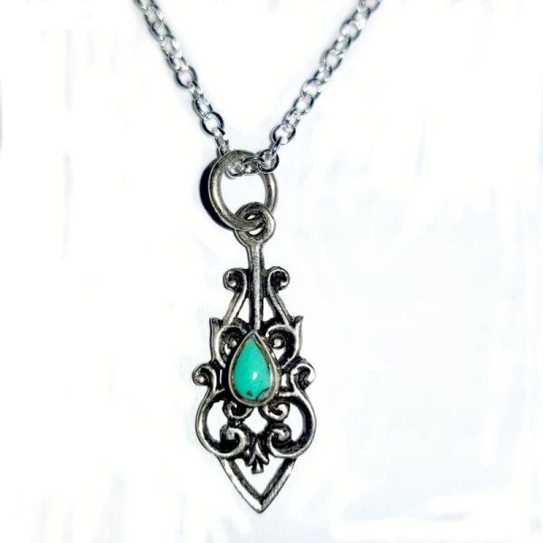 Turquise Pendant, Silver 925, incl. Chain