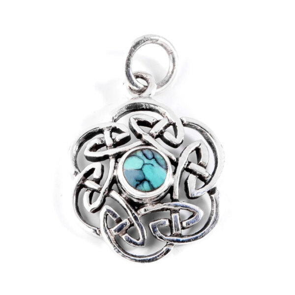 Celtic Knot, Turquise, Silver 925, incl. Chain