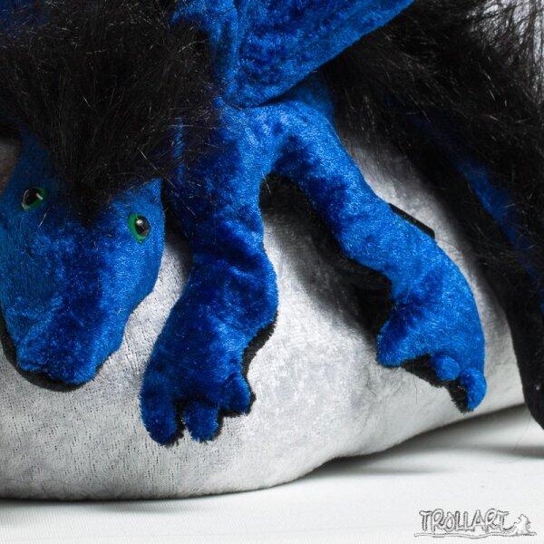 Schulterdrache L2 royalblau mit Plüschkamm