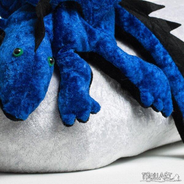 Schulterdrache L2 royalblau mit Zackenkamm