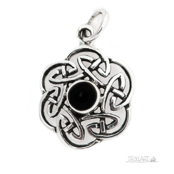 Celtic Knot, Pendant, Onyx, Silver 925, incl. Chain