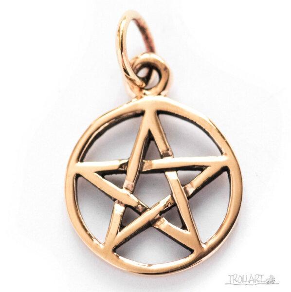 Pentagramm Nima, Bronze, inkl. Band