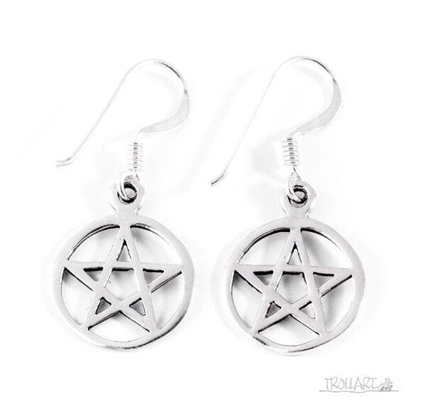 Ear Droppers, Celitic Pentagram, Silver 925