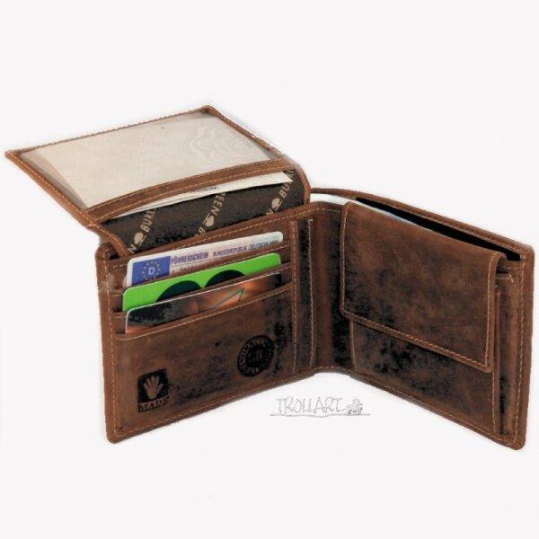 Scheintasche 2teilig, RFID-Schutzfolie, Leder