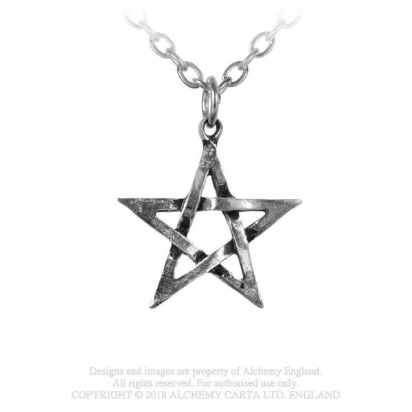 Pentagram incl. chain