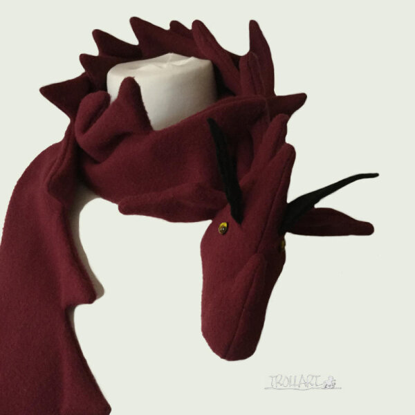 Dragon Scarf, dark red