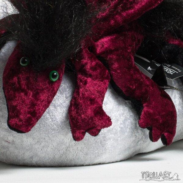 Shoulder dragon L2, bordeaux, plushy crest