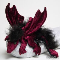 Shoulder dragon L2, bordeaux, plushy crest